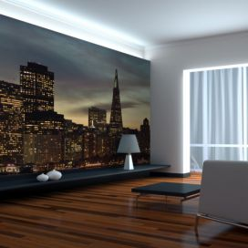 Bimago Fototapeta - San Francisco skyline at sunset 200x154 cm GLIX DECO s.r.o.