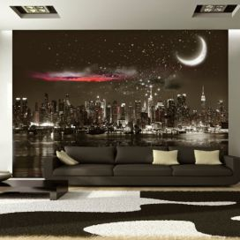 Bimago Fototapeta - Starry Night Over NY 300x210 cm