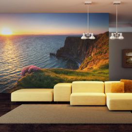 Bimago Fototapeta - Sunset: Cliffs of Moher, Ireland 200x154 cm GLIX DECO s.r.o.