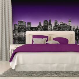 Bimago Fototapeta - The Big Apple in purple color 350x270 cm GLIX DECO s.r.o.