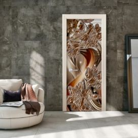Fototapeta na dveře - Photo wallpaper – Abstraction and flowers I 100x210 cm GLIX DECO s.r.o.