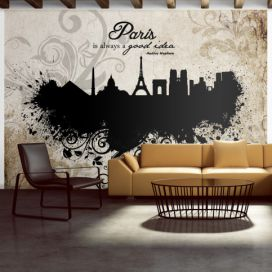 Bimago Fototapeta - Paris is always a good idea - vintage 200x140 cm GLIX DECO s.r.o.