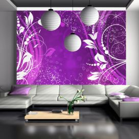 Bimago Fototapeta - Purple face of magic 200x140 cm GLIX DECO s.r.o.