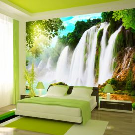 Bimago Fototapeta - The beauty of nature: Waterfall 200x140 cm GLIX DECO s.r.o.
