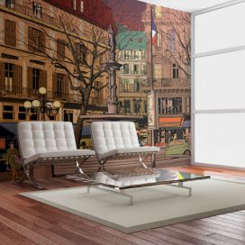 Bimago Fototapeta - Walk through the French square 450x270  cm GLIX DECO s.r.o.