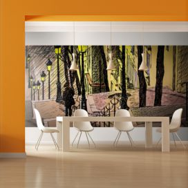Bimago Fototapeta XXL - Lonely walk through Montmartre 550x270 cm,