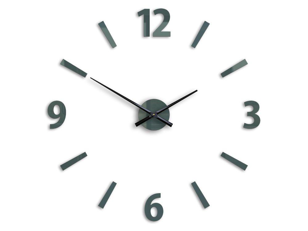 95014947e33 ... 3D Nalepovací hodiny Klaus šedé