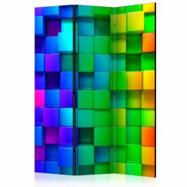 Paraván - Colourful Cubes [Room Dividers] - 135x172 4wall.cz