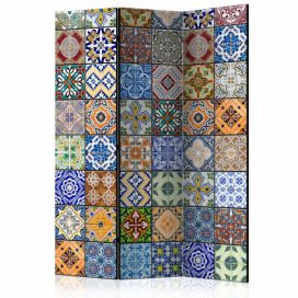 Paraván - Colorful Mosaic [Room Dividers] - 135x172 4wall.cz