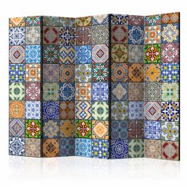 Paraván - Colorful Mosaic II [Room Dividers] - 225x172 4wall.cz