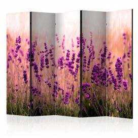 Paraván - Lavender in the Rain II [Room Dividers] - 225x172 4wall.cz