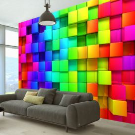 Fototapeta - Colourful Cubes - 350x245
