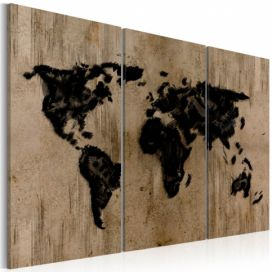 Obraz - Mysterious map of the World - 120x80 4wall.cz
