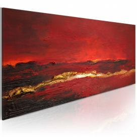Ručně malovaný obraz - Redness of the ocean - 100x40 4wall.cz