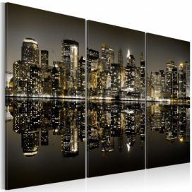 Obraz - Golden New York - 120x80 4wall.cz