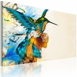 Obraz - Bird\'s music - 90x60 4wall.cz