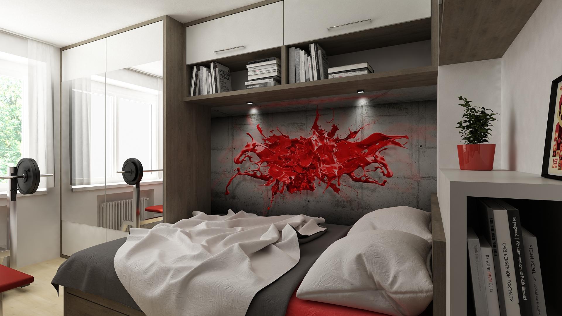 03 - studentský pokoj 3D tapeta.jpg - Hana Micková Interiery 760a59bf96