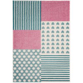 Masiv24 - Koberec PLAY 100 x150cm Hearts and Stripes Masiv24.cz