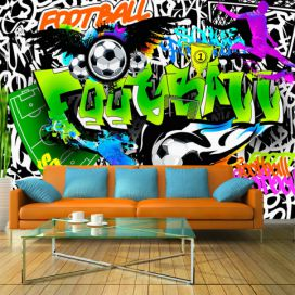 Fototapeta - Football Graffiti - 350x245 4wall.cz