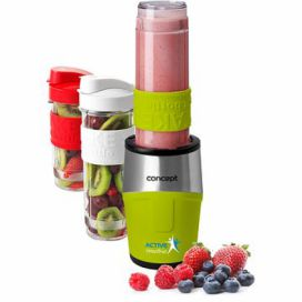 Concept SM3387 smoothie maker  Active smoothie 500 W + láhve 2 x 570 ml + 400 ml, zelená alza.cz