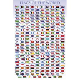 Plakát, Obraz - Flags of the world, (61 x 91,5 cm) Favi.cz