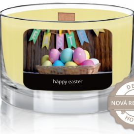 svíčka ve skle wood wick | happy easter | Green Tea JCandles