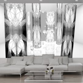 Fototapeta - Graphite stained glass 400x280 cm GLIX DECO s.r.o.