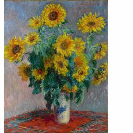 Obraz Claude Monet - Bouquet of Sunflowers , 50x40 cm Bonami.cz