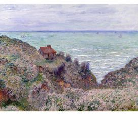 Obraz Claude Monet - Cabin of the Customs Watch, 50x40 cm Bonami.cz