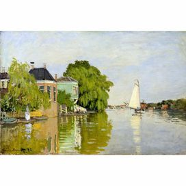 Obraz Claude Monet - Houses on the Achterzaan, 90x60 cm Bonami.cz