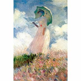 Obraz Claude Monet - Woman with Sunshade, 45x30 cm Bonami.cz