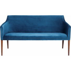 Modrá lavice Kare Design Bench Mode Velvet