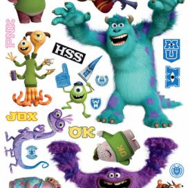 AG Design Monsters University - samolepka na zeď 65x85 cm