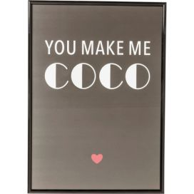 Obraz s rámem You Make Me Coco 42×30 cm KARE