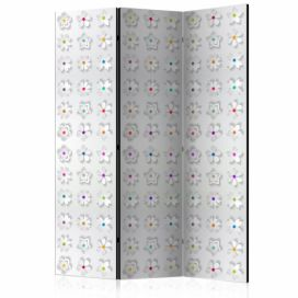 Paraván - Room divider – Colorful flowers I 135x172cm GLIX DECO s.r.o.