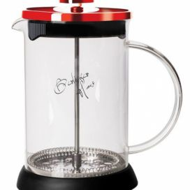 Konvička na čaj a kávu French Press 350 ml Burgundy Metallic Line - BERLINGERHAUS Favi.cz