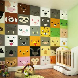 Fototapeta - Animal Faces 300x240 cm GLIX DECO s.r.o.