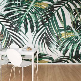 Fototapeta - Tropical leaves 300x240 cm GLIX DECO s.r.o.
