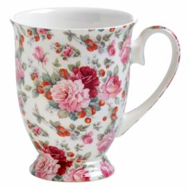 Hrnek z kostního porcelánu na nožce Maxwell & Williams Royal Old England Summer Rose, 300 ml Bonami.cz