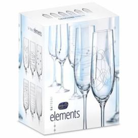 BOHEMIA CRYSTAL na šampaňské 190ml 6ks ELEMENTS