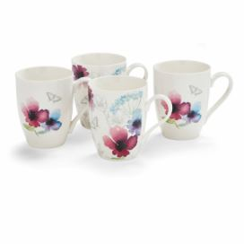 Sada 4 porcelánových hrnků Cooksmart England Chatsworth Floral, 350 ml