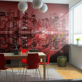 Bimago Fototapeta - Red-hot NYC 200x154 cm GLIX DECO s.r.o.