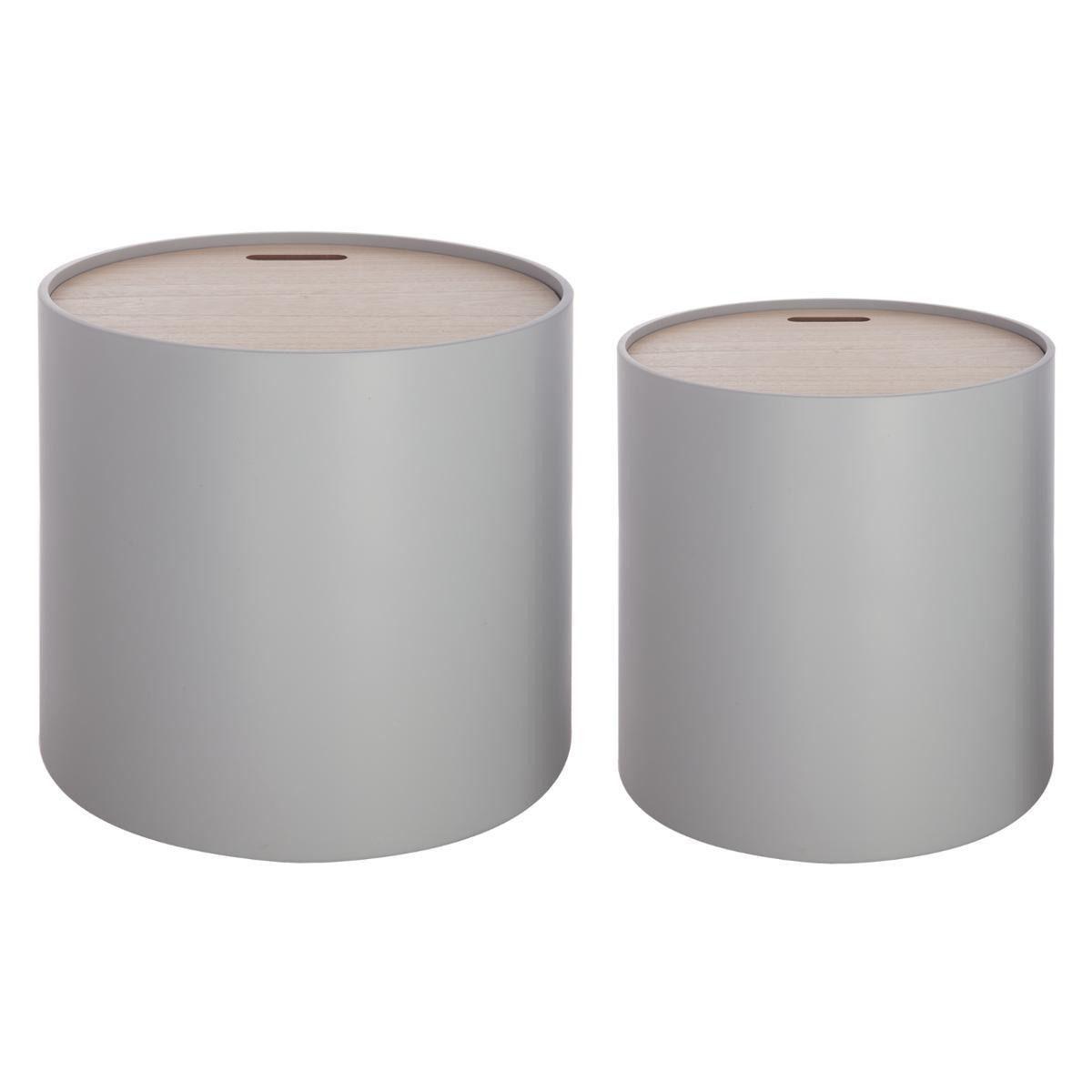 atmosphera crateur dintrieur organizr box kulat box ndoba stolek grey 2v1 2 ks barva ed