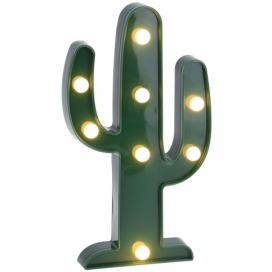 Home Styling Collection Zářící výzdoba CACTUS, figurka LED