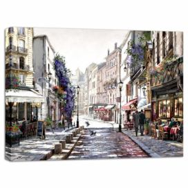 Obraz Styler Canvas Watercolor Paris Mood, 85 x 113 cm GLIX DECO s.r.o.