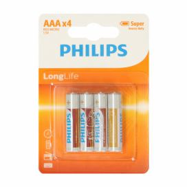Baterie Philips AAA LongLife, 4 ks