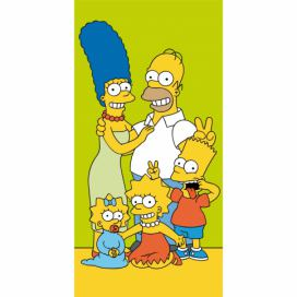 Jerry Fabrics osuška Simpsons family green 70x140 cm