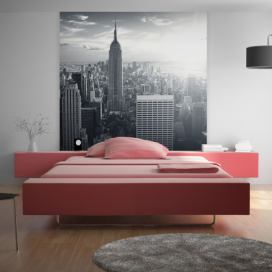 Bimago Fototapeta - Amazing view to New York Manhattan at sunrise 250x193 cm