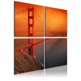 Obraz na plátně - San Francisco - Most Golden Gate 80x80 cm GLIX DECO s.r.o.