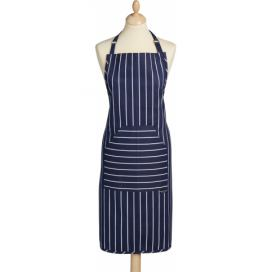 Kitchen Craft Kuchyňská zástěra Blue Butchers Stripes IDKCBSAPRONBLU